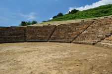 Archaeological Site Of Morgantina Royalty Free Stock Photo