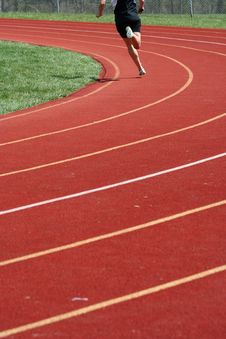 Free Track Runner Royalty Free Stock Image - 9345566