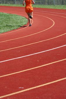 Free Track Runner Royalty Free Stock Image - 9345576
