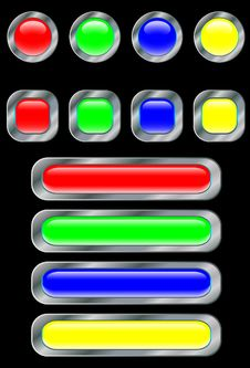 Free Set Of Buttons Stock Photography - 9346002