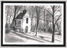 White Small Chapel. Stock Images