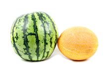 Water-melon And Melon Stock Photography