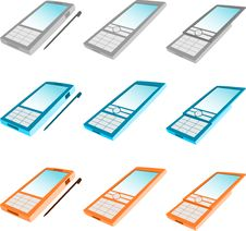 Free Simple Phone Icons Royalty Free Stock Photos - 9346868