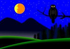 Free Night Landscape Stock Image - 9347331