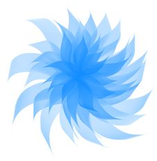 Free Twisted Blue Flower. Stock Images - 9348104