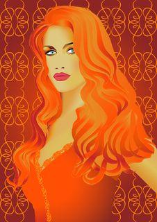 Free Redheaded Girl Royalty Free Stock Image - 9348116