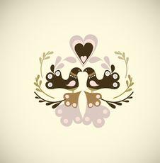 Free Valentine S Bird Royalty Free Stock Image - 9348316