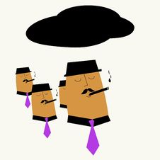 Business Men Smoking Royalty Free Stock Photography
