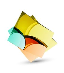 Free Glossy Colorful Sticker Royalty Free Stock Images - 9348639