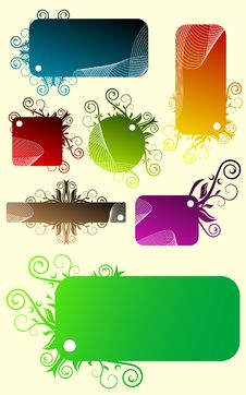 Free Floral Banners Stock Images - 9348914