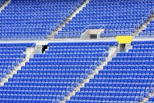Empty Seats In Stadium Stock Photo