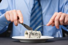 Free Money For Dinner Royalty Free Stock Photo - 9349245