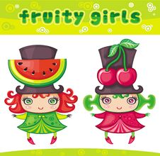 Fruity Girls Series 1 Royalty Free Stock Photography