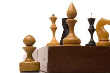 Free Chessmen On A Chessboard Royalty Free Stock Images - 9349659