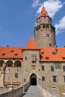 Free Stronghold Bouzov, Czech Royalty Free Stock Photo - 9349915
