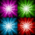 Free Sparkling Background With Heart In Four Colors Stock Images - 9351774