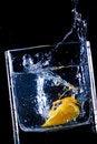 Free Orange  Splash In Water Stock Images - 9352334