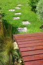 Free Garden Stone Path Stock Photography - 9353352