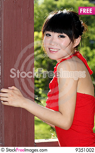 Free Asian Girl Outdoors Stock Photography - 9351002