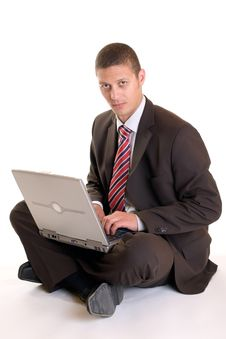 Free Businessman On Laptop Stock Images - 9350314