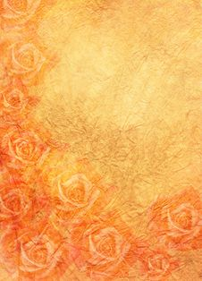 Free Roses In Orange Stock Image - 9350331