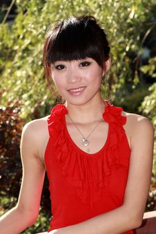 Free Asian Girl Outdoors Royalty Free Stock Photo - 9350515