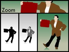 Free Businessman Showing Office Bag Stock Photography - 9351082