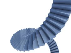 Free Blue Spiral Stairs Royalty Free Stock Images - 9351409