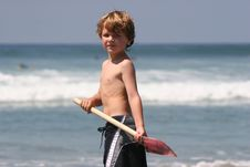 Free Cute Boy With Shovel 2 Royalty Free Stock Photos - 9351568