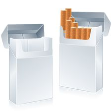 Free Cigarette Pack Stock Photography - 9351712