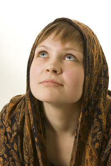 Free GIrl With Kerchief Stock Image - 9351831
