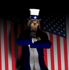 Uncle Sam Portrait 2 Royalty Free Stock Images