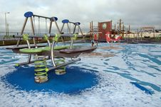 Free Winter Playground Stock Image - 9352491