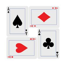 Free Four Aces Hand Square Royalty Free Stock Photos - 9352588