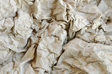 Free Crushed Gray Paper. Stock Images - 9352624