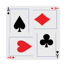 Free Four Aces Hand Wickerwork Stock Photography - 9352632