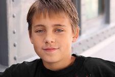 Free Boy Looking Assured Stock Image - 9352951