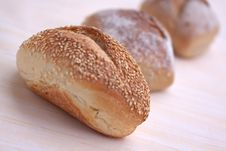 Free Many Buns With Sesame Seeds , Macro Shot Stock Images - 9353094