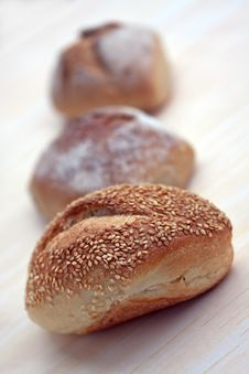 Free Many Buns With Sesame Seeds , Macro Shot Royalty Free Stock Image - 9353106