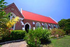 Free Red Brick Church Royalty Free Stock Image - 9353376