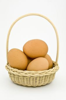 Free Eggs In One Basket Royalty Free Stock Images - 9353719
