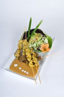 Beef And Pork Skewers Stock Images