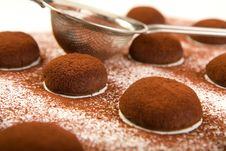 Free Chocolate Truffle Cookies Royalty Free Stock Image - 9355346