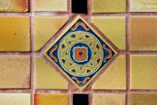 Colorful Ceramic Tiles Stock Photography