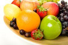 Decorative Fruit Platter Stock Photography