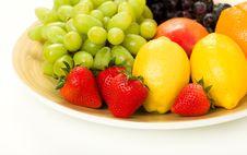 Decorative Fruit Platter Stock Image