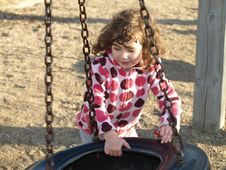 Free Playing Little Girl. Royalty Free Stock Photos - 9355538