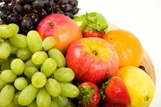 Decorative Fruit Platter Royalty Free Stock Photos