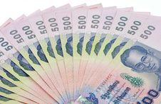 Free Thai Banknote Royalty Free Stock Image - 9356166