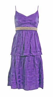 Free Silk Lace Violet Dress Stock Photos - 9356213